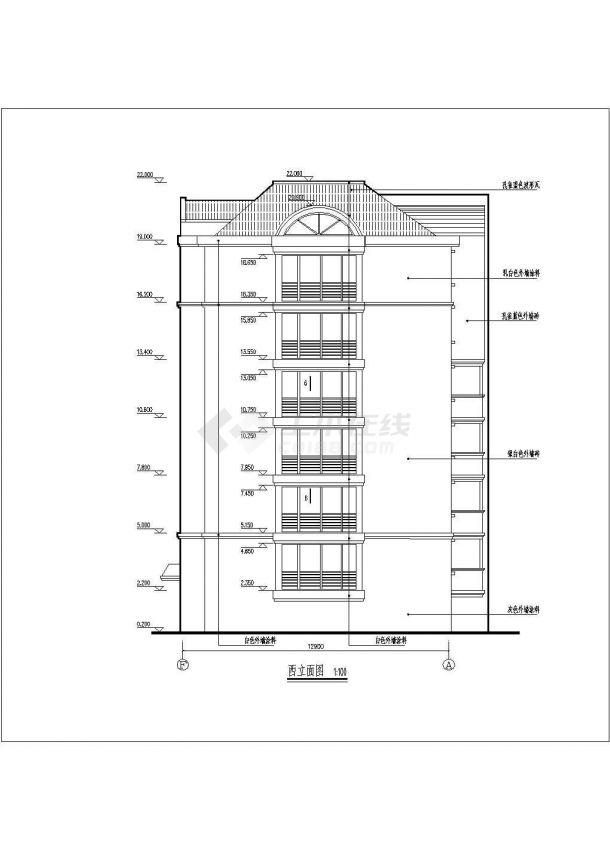 泰安市灌庄小区4770平米6层砖混结构住宅楼全套建筑设计CAD图纸-图一