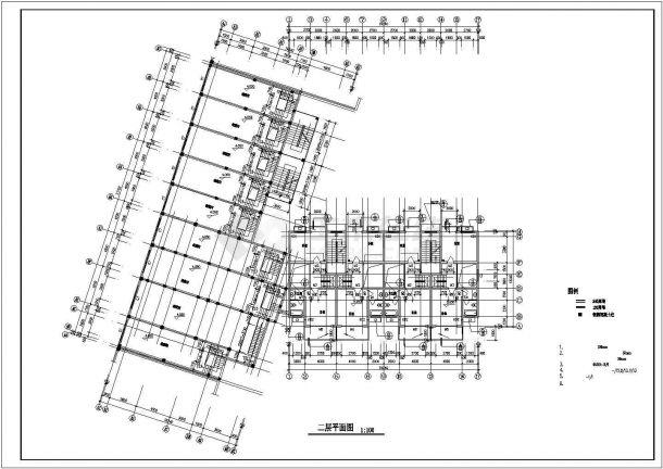 深圳市罗湖区某家属院3980平米6+跃层砖混结构住宅楼建筑设计CAD图纸-图二