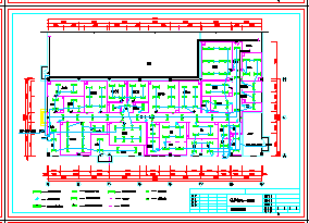 某药厂GMP工程cad平面设计方案图-图一