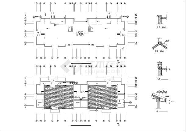 宿州市某居住区6层砖混结构住宅楼建筑设计CAD图纸(第6层为复式)-图一