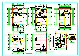 南方某联排别墅cad详细建筑方案图纸-图二