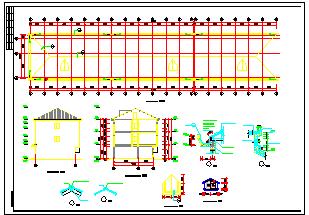 全套三层底框建筑住宅楼结构cad全套施工图纸-图二