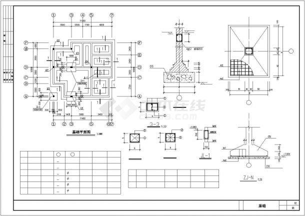 台州市某现代化村镇3层砖混结构住宅楼建筑设计CAD图纸-图一