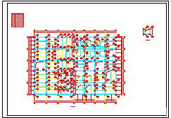 一套钢结构多层厂房cad施工设计图纸-图一