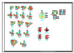 一套钢结构多层厂房cad施工设计图纸-图二