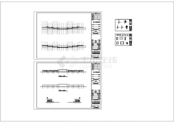 景墙CAD立面设计图-图一