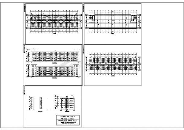 宿舍楼建筑设计方案平面立面cad图纸-图一
