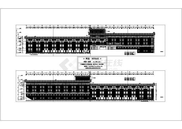 某高校宿舍楼外立面深化建筑设计cad图纸-图一