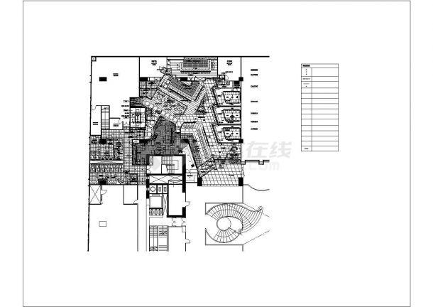 香港喜来登酒店云海日本餐厅装修设计cad全套施工图(含给排水设计,含空调设计,含消防设计,含电气设计)-图一