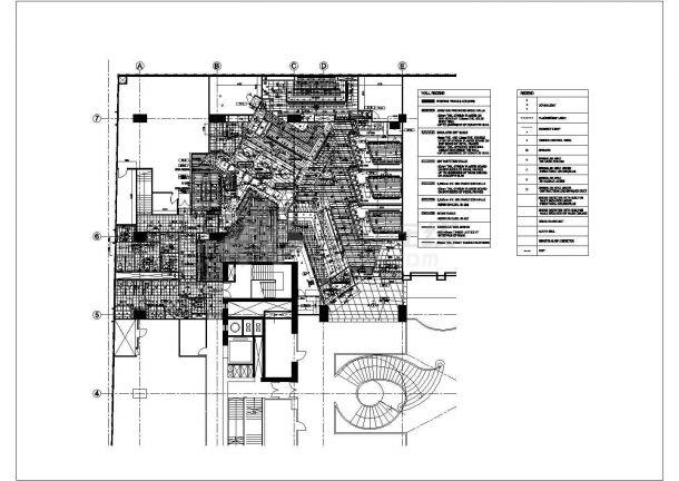 香港喜来登酒店云海日本餐厅装修设计cad全套施工图(含给排水设计,含空调设计,含消防设计,含电气设计)-图二