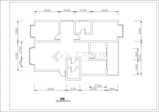紫琅装饰公司装修设计五口之家室内家装完整设计方案cad施工图-图一