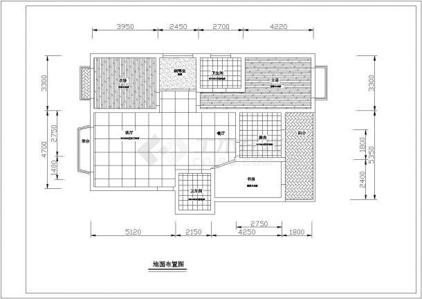 紫琅装饰公司装修设计五口之家室内家装完整设计方案cad施工图-图二