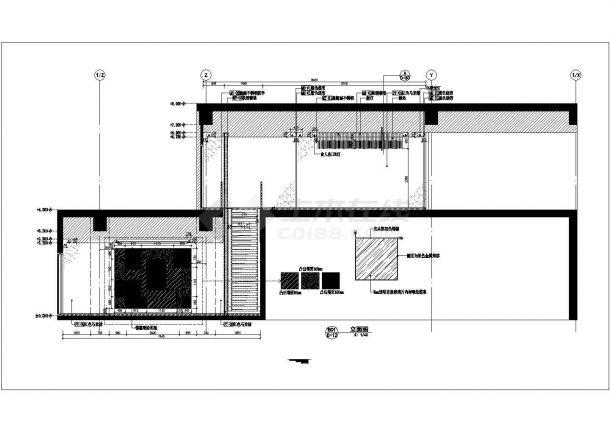 古鲁奇-麻辣诱惑餐厅太古店室内装修设计cad全套施工图(含设计说明,含效果图)-图一