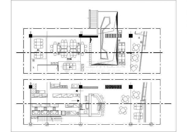 古鲁奇-麻辣诱惑餐厅太古店室内装修设计cad全套施工图(含设计说明,含效果图)-图二