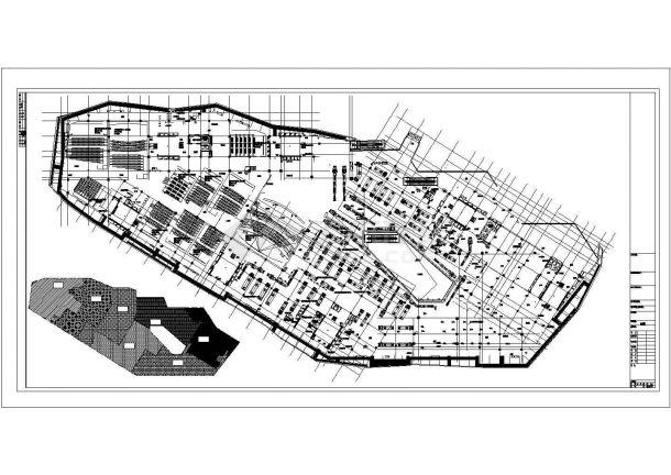 某集中式商业综合楼空调通风及防排烟系统设计cad全套施工图( 含设计说明)-图一