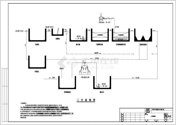 青岛某基层医院污水处理改造工程设计全套施工图(含设计说明、新建化粪池及生化池部分)-图一
