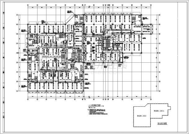 某商业综合体空调通风及防排烟系统设计cad全套施工图( 含设计说明)-图二