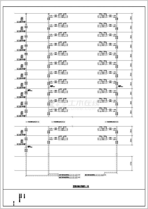 某大型商业综合体暖通空调全套系统(动力系统 机房)设计cad全套施工图(含设计说明,含写字楼、酒店等设计)-图一