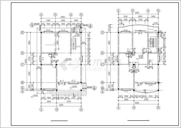 杭州市汇金城居住区三层砖混结构住宅楼建筑设计CAD图纸(含阁楼)-图一