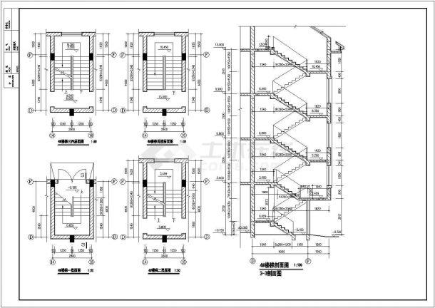 江苏省常熟市自建房农村3层住宅楼建筑设计方案施工图dwg格式-图二