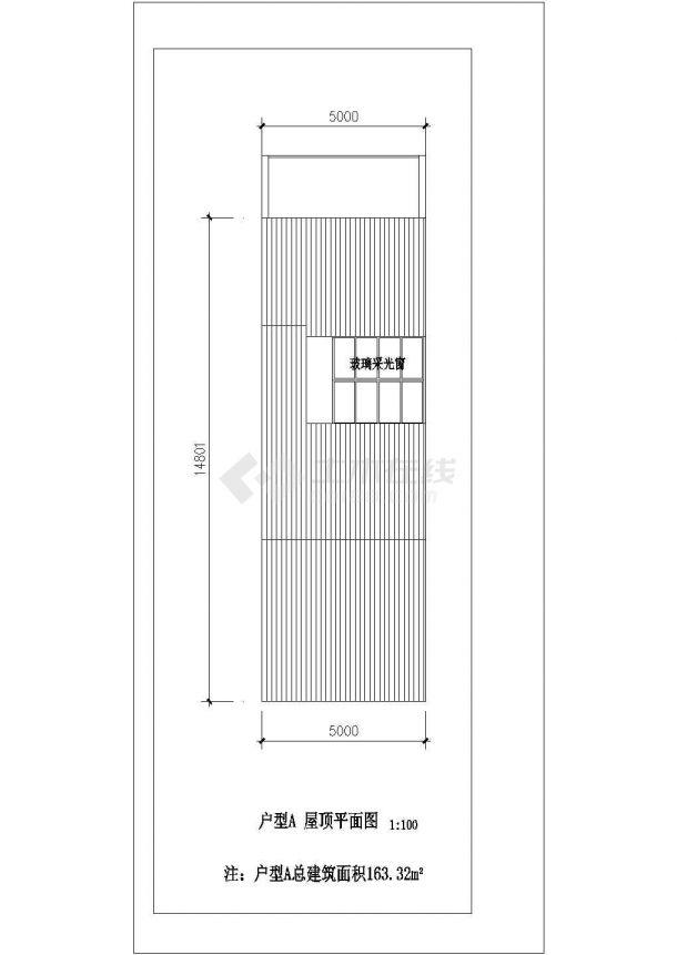 保定市某村镇163平米三层砖混结构乡村民居住宅楼平立面设计CAD图纸-图一