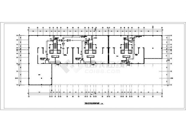 某高层商业楼综合采暖通风及防排烟系统设计cad全套施工图(含多栋设计,含设计说明)-图一