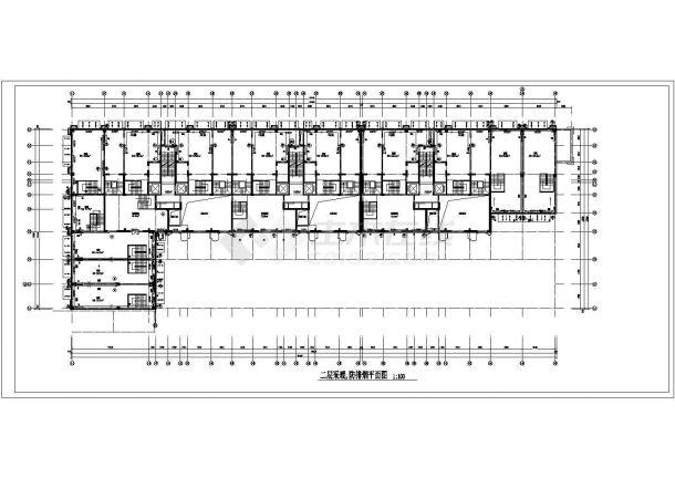 某高层商业楼综合采暖通风及防排烟系统设计cad全套施工图(含多栋设计,含设计说明)-图二