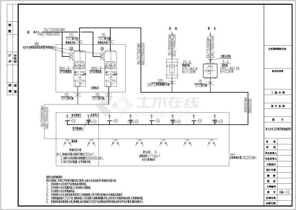 某超市空调通风设计cad详细施工图(含设计说明)-图一