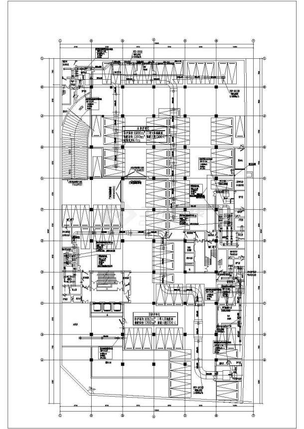 [杭州]某大型商业广场空调通风初步设计cad详细施工图纸(含设计说明)-图二