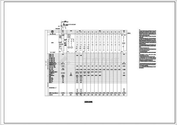 漏电报警建筑设计施工图-图一