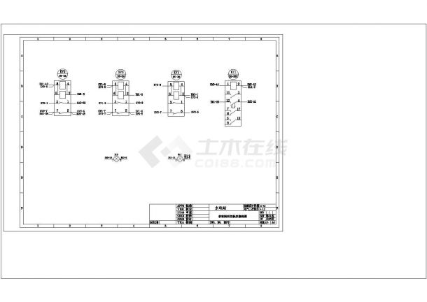 事故照明接线CAD建筑设计施工图-图一
