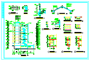 7层商务住宅楼整套建筑cad设计施工图纸-图一