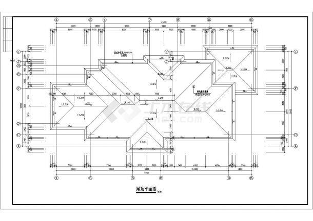 幼儿园设计_某地两层幼儿园设计CAD图-图一