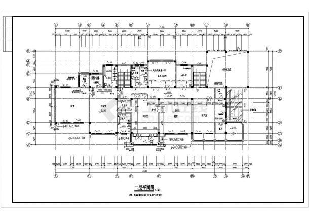 幼儿园设计_某地两层幼儿园设计CAD图-图二