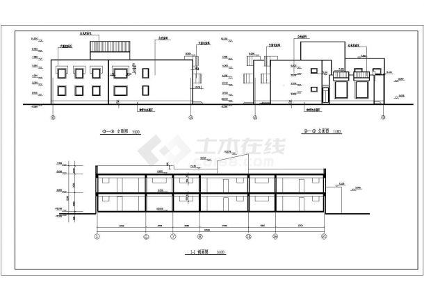 幼儿园设计_某地区中小型两层幼儿园设计CAD图-图一