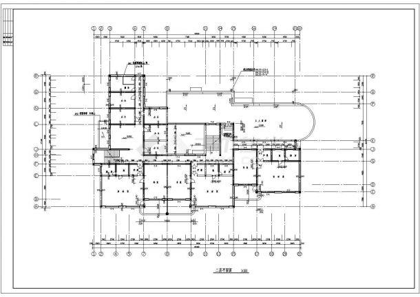幼儿园设计_某地区中小型两层幼儿园设计CAD图-图二