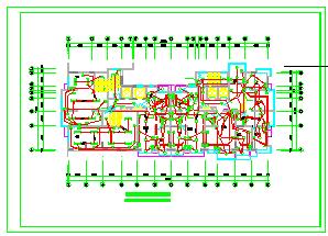 某高层住宅楼CAD电气设计施工图纸-图一