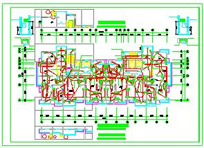 某高层住宅楼CAD电气设计施工图纸-图二
