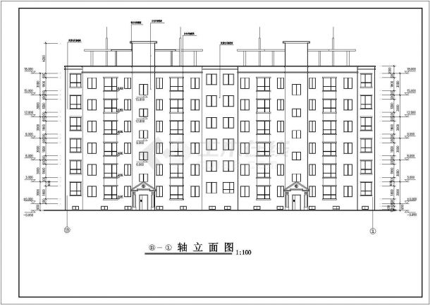 甘肃地区某小区地上六层地下一层单元式住宅楼建筑工程设计全套cad图(含建筑设计说明及大样)-图二
