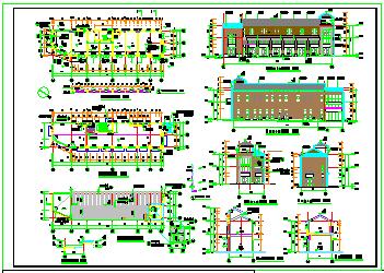 临街商业结构cad建筑设计施工图纸-图二