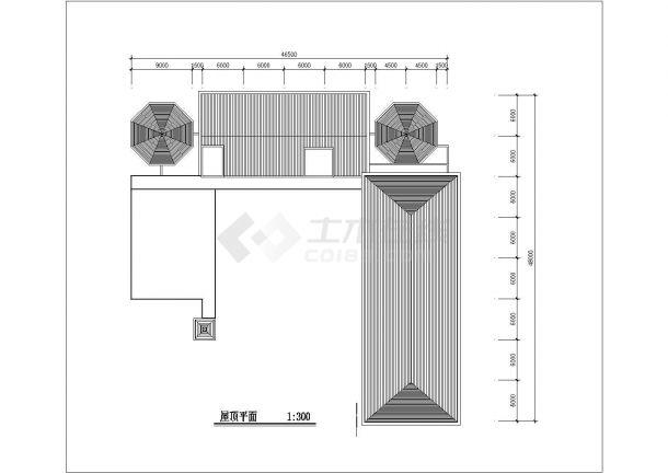 幼儿园设计_某地区L型三层幼儿园设计CAD图-图一