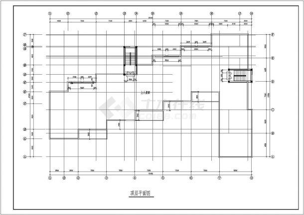 幼儿园设计_某地区欧风小型三层幼儿园设计CAD图-图一