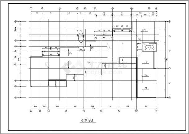 幼儿园设计_某地区欧风小型三层幼儿园设计CAD图-图二