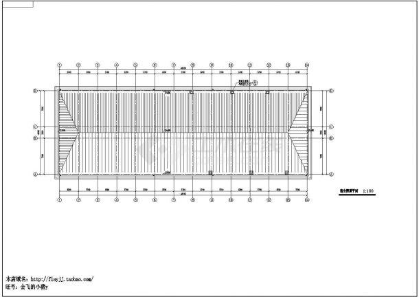 某县城试验小学三层学生宿舍楼建筑方案设计cad图(含平立剖)-图二