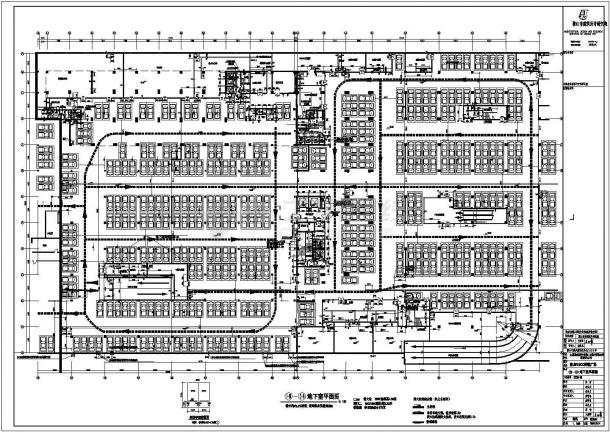 南京金鹰全套商场结构设计cad平面施工图纸-图一