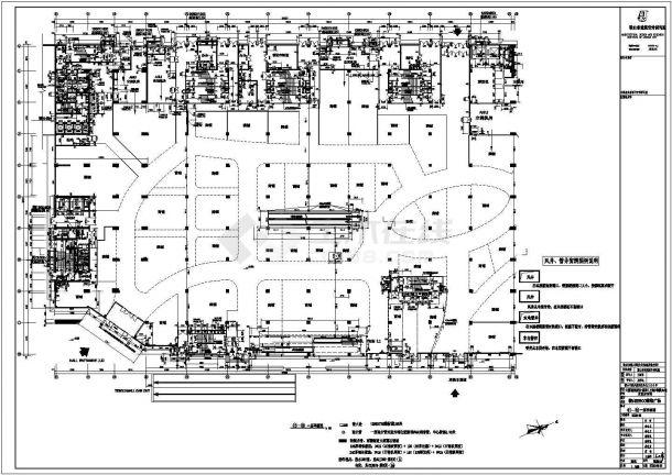 南京金鹰全套商场结构设计cad平面施工图纸-图二