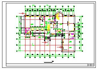 北方某办公楼cad平面设计施工图纸-图二