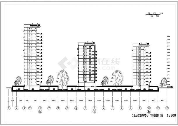 某地高层户型住宅小区全套景观施工设计cad图纸-图一