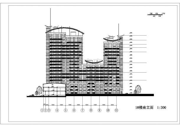 某地高层户型住宅小区全套景观施工设计cad图纸-图二