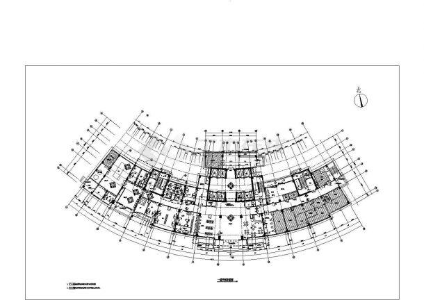【上海】某社区大型医院住宅楼全套装修施工设计cad图(含建筑装修设计说明)-图一